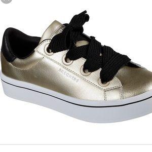 Skechers street Los Ángeles gold sneakers size 9
